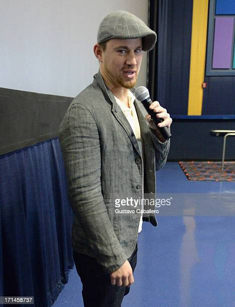 Channing Tatum attends the surprise Miami screening of 'White House Down' at Regal South Beach on June 24 2013 in Miami Florida