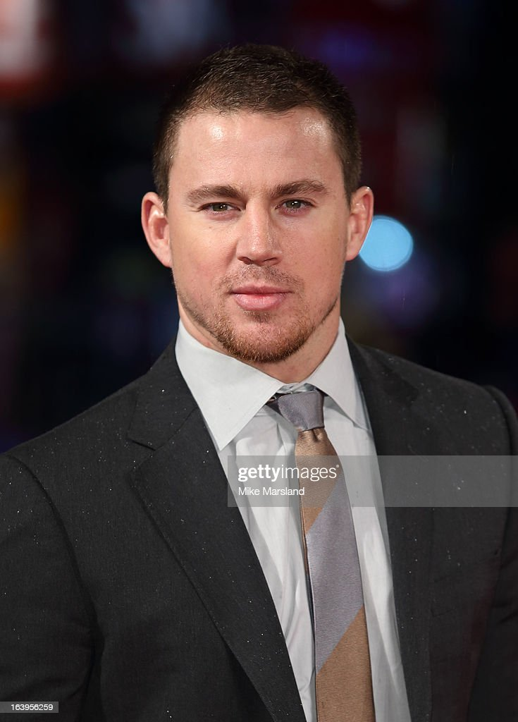 <a gi-track='captionPersonalityLinkClicked' href=/galleries/search?phrase=Channing+Tatum&family=editorial&specificpeople=549548 ng-click='$event.stopPropagation()'>Channing Tatum</a> attends the UK premiere of 'G.I. Joe: Retaliation' at Empire Leicester Square on March 18, 2013 in London, England.
