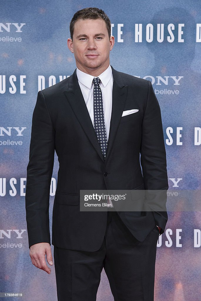 <a gi-track='captionPersonalityLinkClicked' href=/galleries/search?phrase=Channing+Tatum&family=editorial&specificpeople=549548 ng-click='$event.stopPropagation()'>Channing Tatum</a> attends the 'White House Down' Germany premiere at CineStar on September 2, 2013 in Berlin, Germany.