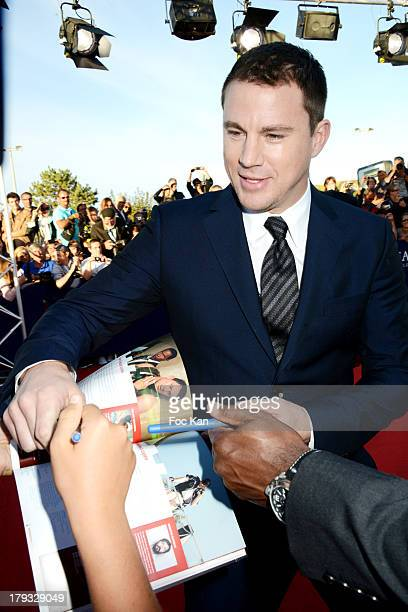 Channing Tatum attends the 'White House Down' Premiere at The 39th Deauville Film Festival at the CID on September 1 2013 in Deauville France