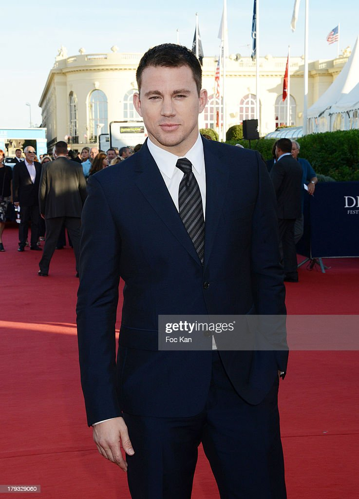 <a gi-track='captionPersonalityLinkClicked' href=/galleries/search?phrase=Channing+Tatum&family=editorial&specificpeople=549548 ng-click='$event.stopPropagation()'>Channing Tatum</a> attends the 'White House Down' Premiere at The 39th Deauville Film Festival at the CID on September 1, 2013 in Deauville, France.