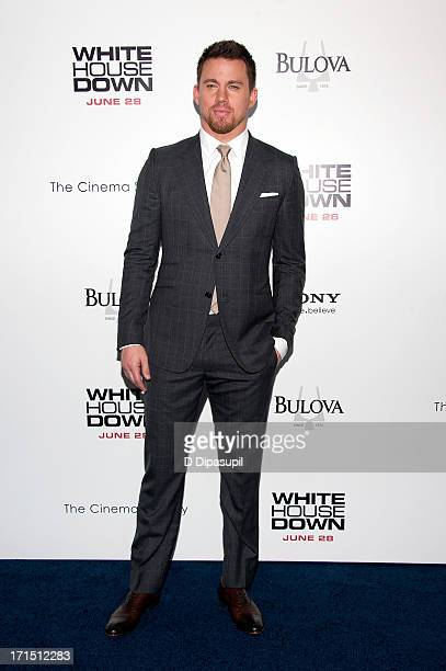 Channing Tatum attends the 'White House Down' premiere at the Ziegfeld Theater on June 25 2013 in New York City