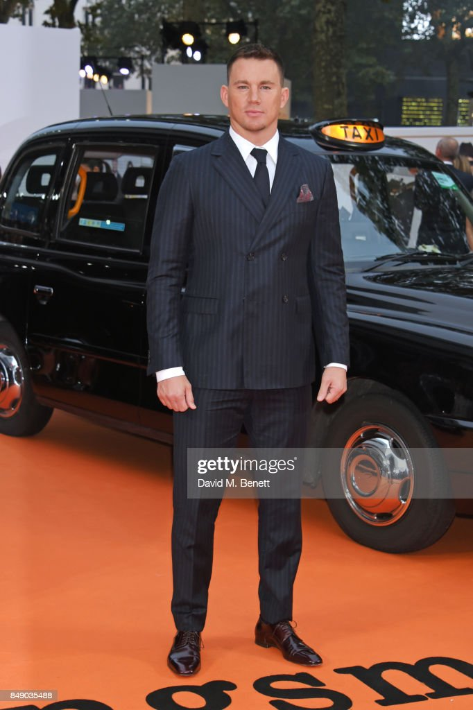 Channing Tatum attends the World Premiere of 'Kingsman: The Golden Circle' at Odeon Leicester Square on September 18, 2017 in London, England.