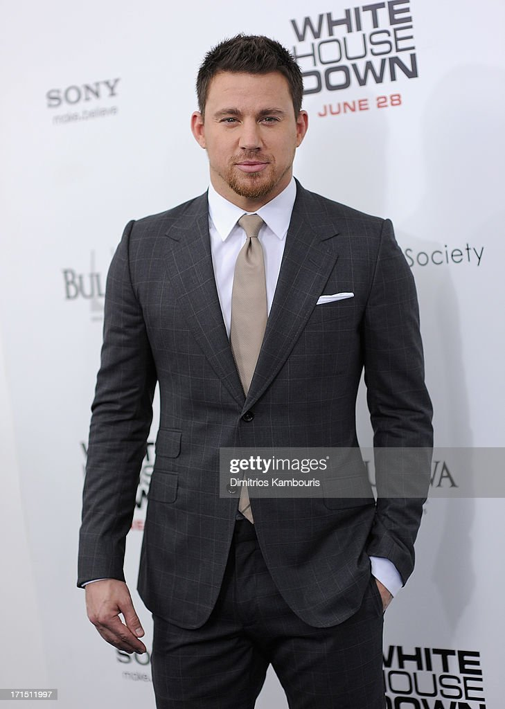<a gi-track='captionPersonalityLinkClicked' href=/galleries/search?phrase=Channing+Tatum&family=editorial&specificpeople=549548 ng-click='$event.stopPropagation()'>Channing Tatum</a> attends 'White House Down' New York Premiere at Ziegfeld Theater on June 25, 2013 in New York City.