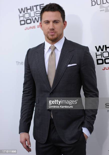 Channing Tatum attends 'White House Down' New York Premiere at Ziegfeld Theater on June 25 2013 in New York City
