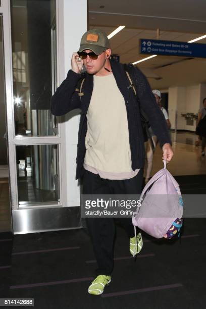 Channing Tatum is seen at LAX on July 13 2017 in Los Angeles California