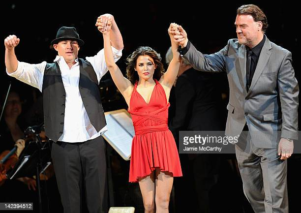 Channing Tatum Jenna Dewan and Bryn Terfel perform during the 2012 Concert for the Rainforest Fund at Carnegie Hall on April 3 2012 in New York City
