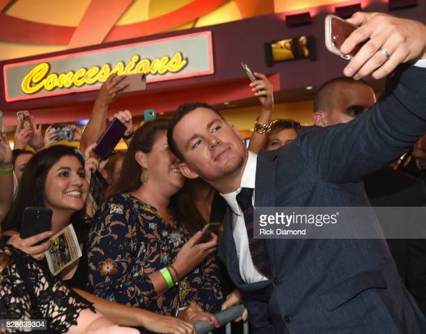 Channing Tatum meets with fans during 'Logan Lucky' Tennessee Benefit Screening For Variety The Children's Charity at Regal Pinnacle Stadium 18 on...