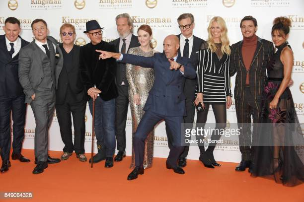 Channing Tatum Taron Egerton Sir Elton John director Matthew Vaughn Jeff Bridges Julianne Moore Mark Strong Colin Firth Claudia Schiffer Pedro Pascal...