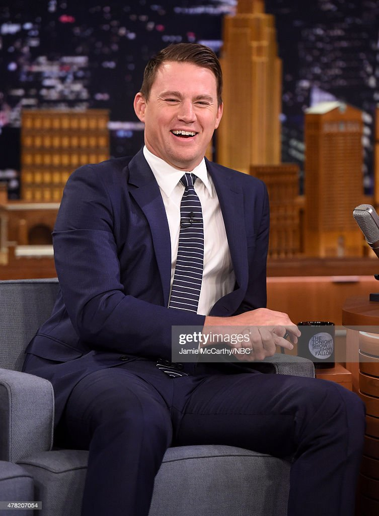 <a gi-track='captionPersonalityLinkClicked' href=/galleries/search?phrase=Channing+Tatum&family=editorial&specificpeople=549548 ng-click='$event.stopPropagation()'>Channing Tatum</a> visits 'The Tonight Show Starring Jimmy Fallon'at Rockefeller Center on June 23, 2015 in New York City.
