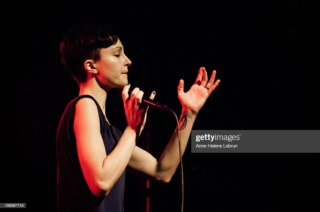 Channy Leaneagh of American band Polica performs live during a concert at Postbahnhof on November 14 2012 in Berlin, Germany.