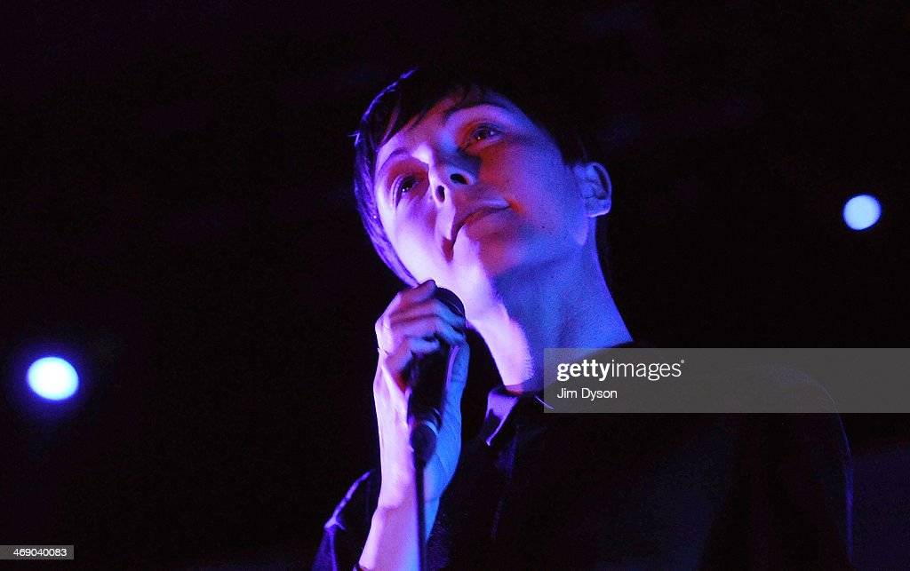 Channy Leaneagh of Polica performs live on stage at the Troxy on February 12 2014 in London United Kingdom
