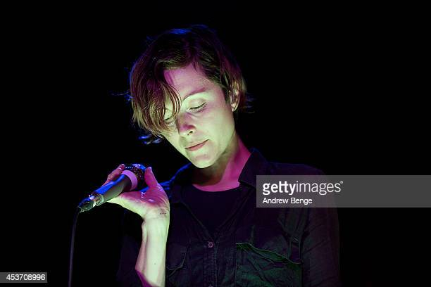 Channy Leaneagh of Polica performs on stage at Belgrave Music Hall on August 16 2014 in Leeds United Kingdom