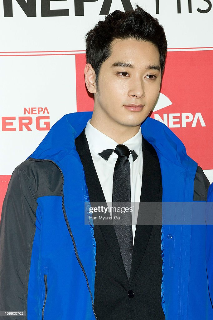 Chansung of South Korean boy band 2PM attends a promotional event for the NEPA History Show 2013 'ISENBERG' Launching Show at COEX on January 22, 2013 in Seoul, South Korea.