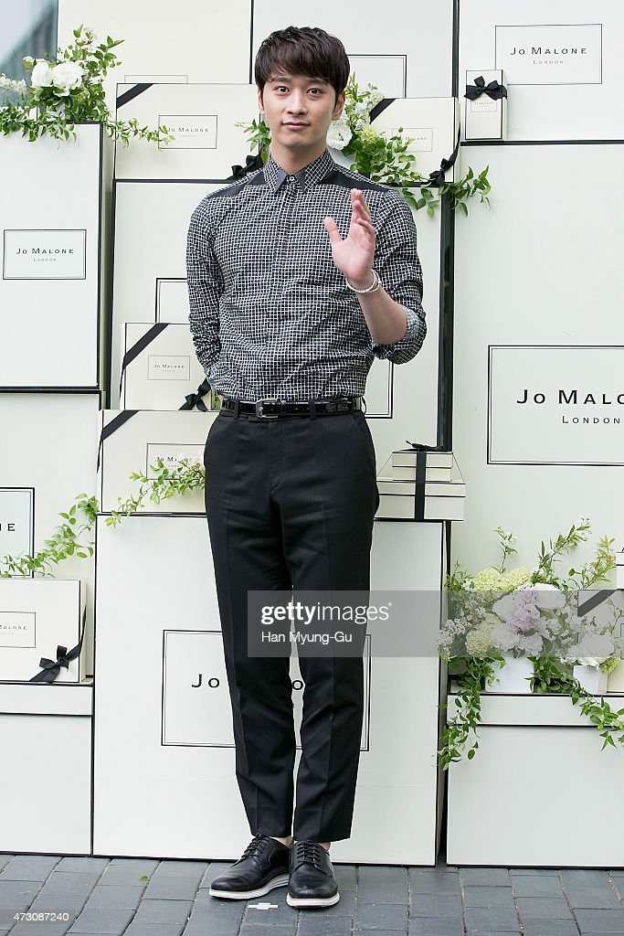 Chansung of South Korean boy band 2PM attends the photocall for Jo Malone London Hannam boutique opening on May 12, 2015 in Seoul, South Korea.