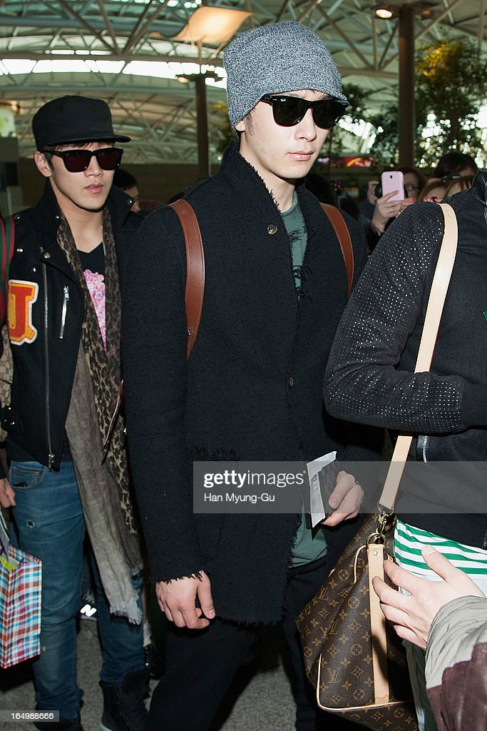 Chansung of South Korean boy band 2PM is seen on departure iat Incheon International Airport on March 29, 2013 in Incheon, South Korea.