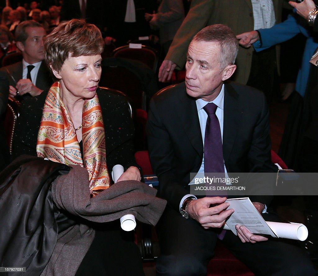 Chantal Arens (L), presidente of Paris' Tribunal de grande instance (TGI) and François Molins, general prosecutor under Paris' TGI attend Paris' bar opening ceremony on December 7, 2012 in Paris .