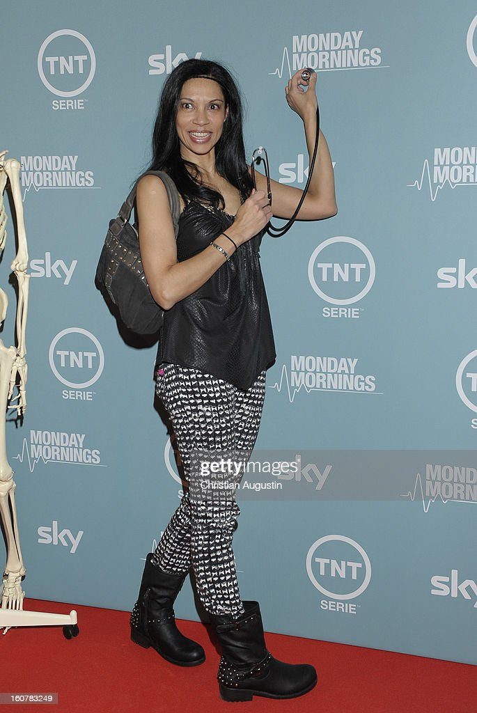 Chantal de Freitas attends the 'Monday Mornings' Preview Event of TNT Serie at East Hotel on February 5th, 2013 in Hamburg, Germany. The series premieres on February 7th (every Thursday at 8:15 pm on TNT Serie).