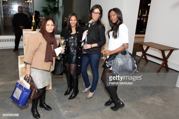 Chantal Filippi Monique Pean Catrinel Aideus and Keisha Daniels attend HOUSE OF WARIS Spring/Summer 2010 Presentation at Phillips de Pury Company on...