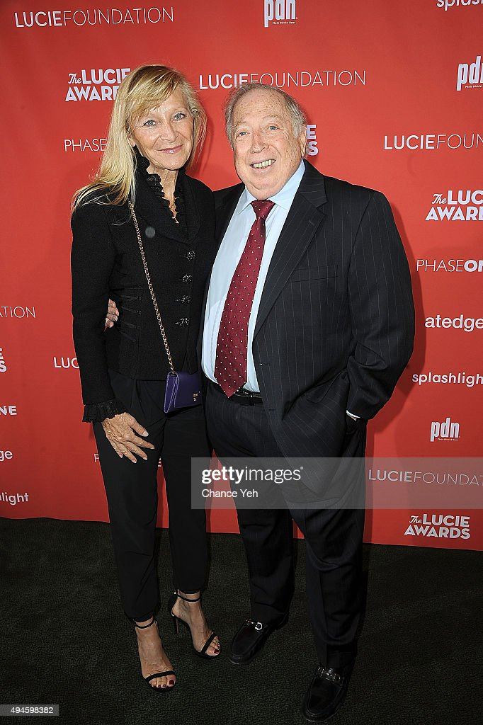 Chantal Foret and Neil Leifer attend 13th Annual Lucie Awards at Zankel Hall, Carnegie Hall on October 27, 2015 in New York City.