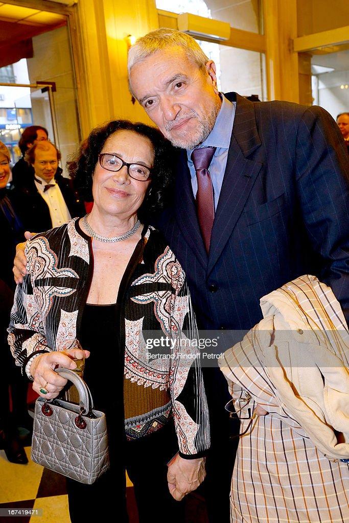 Chantal Fournier and Ruggero Raimondi attend Salle Gaveau 105th Anniversary on April 24, 2013 in Paris, France.