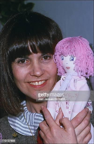 Chantal Goya and her doll Marie Rose in ParisFrance on January 17th1985