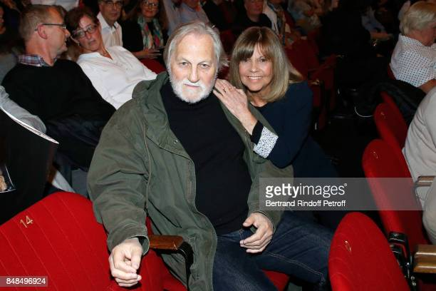 Chantal Goya and her husband JeanJacques Debout attend Sylvie Vartan Performs at L'Olympia on September 16 2017 in Paris France