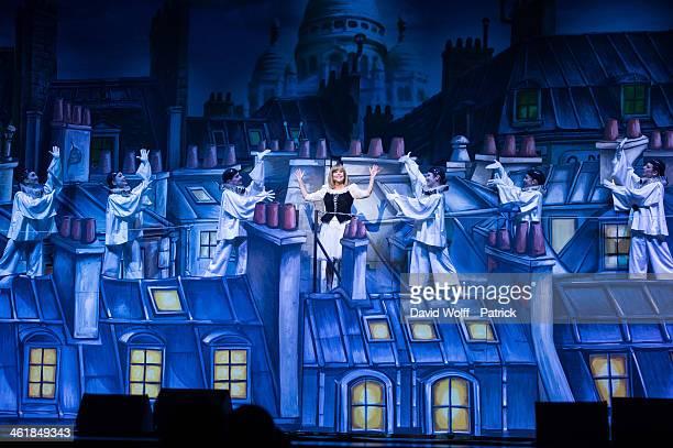 Chantal Goya performs at Palais des Congres on January 11 2014 in Paris France