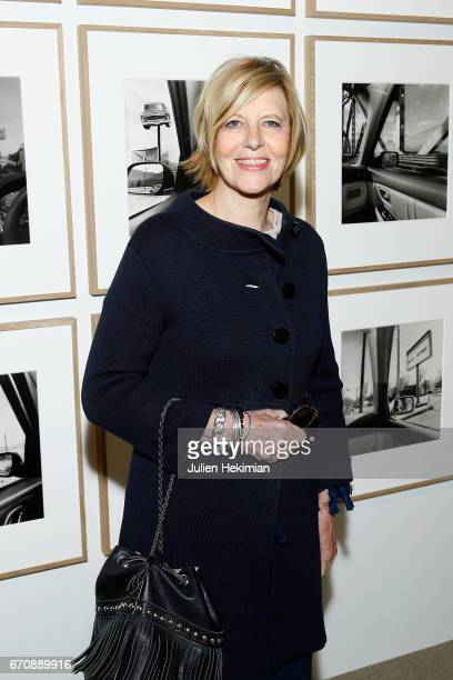 Chantal Ladesou attends 'Auto Photo' Exhibition Preview at Fondation Cartier on April 18 2017 in Paris France