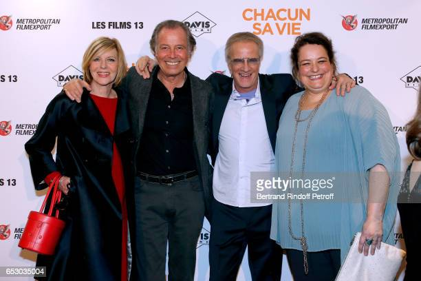 Chantal Ladesou Michel Leeb Christophe lambert and Isabelle de Hertogh attend the 'Chacun sa vie' Paris Premiere at Cinema UGC Normandie on March 13...