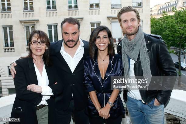 Chantal Lauby FrancoisXavier Demaison Director of the movie Reem Kherici and Philippe Lacheau attend the 'Jour J' Paris movie Premiere on April 24...