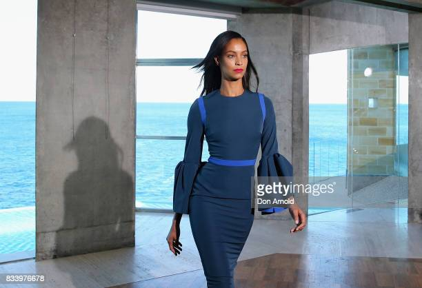 Chantal Monaghan showcases designs at the Myer Spring 2017 Fashion Launch on August 17 2017 in Sydney Australia