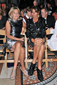 Chantal Princess of Hanover and Countess Debbie von Bismarck attend the front row for the Philip Treacy show on day 3 of London Fashion Week...