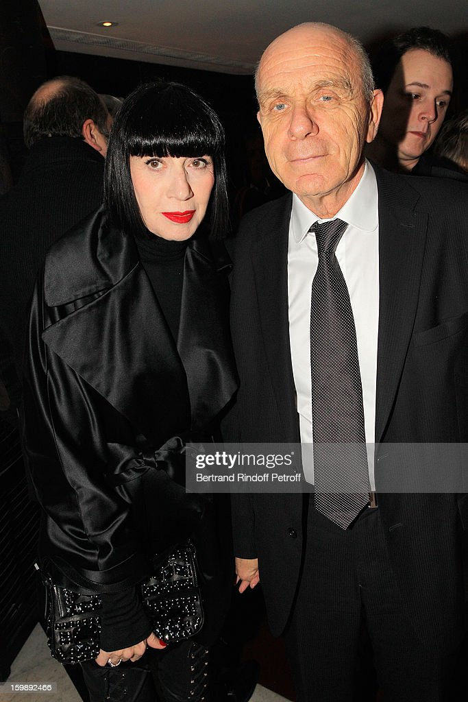 Chantal Thomass (L) and her husband Michel Fabian attend 'La Petite Maison De Nicole' Inauguration Cocktail at Hotel Fouquet's Barriere on January 22, 2013 in Paris, France.