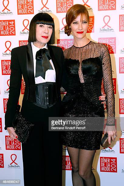 Chantal Thomass and Mareva Galanter attend the Sidaction Gala Dinner 2014 at Pavillon d'Armenonville on January 23 2014 in Paris France