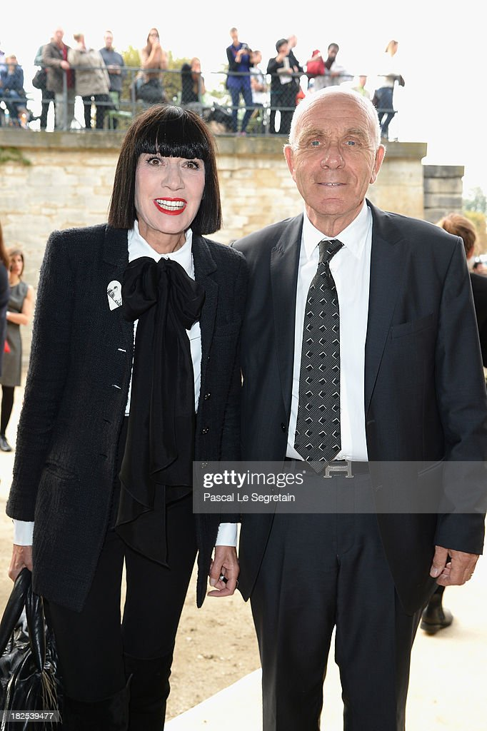 Chantal Thomass and Michel Fabian attend the Elie Saab show as part of the Paris Fashion Week Womenswear Spring/Summer 2014 at Espace Ephemere Tuileries on September 30, 2013 in Paris, France.