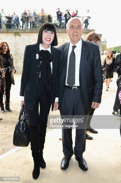 Chantal Thomass and Michel Fabian attend the Elie Saab show as part of the Paris Fashion Week Womenswear Spring/Summer 2014 at Espace Ephemere...