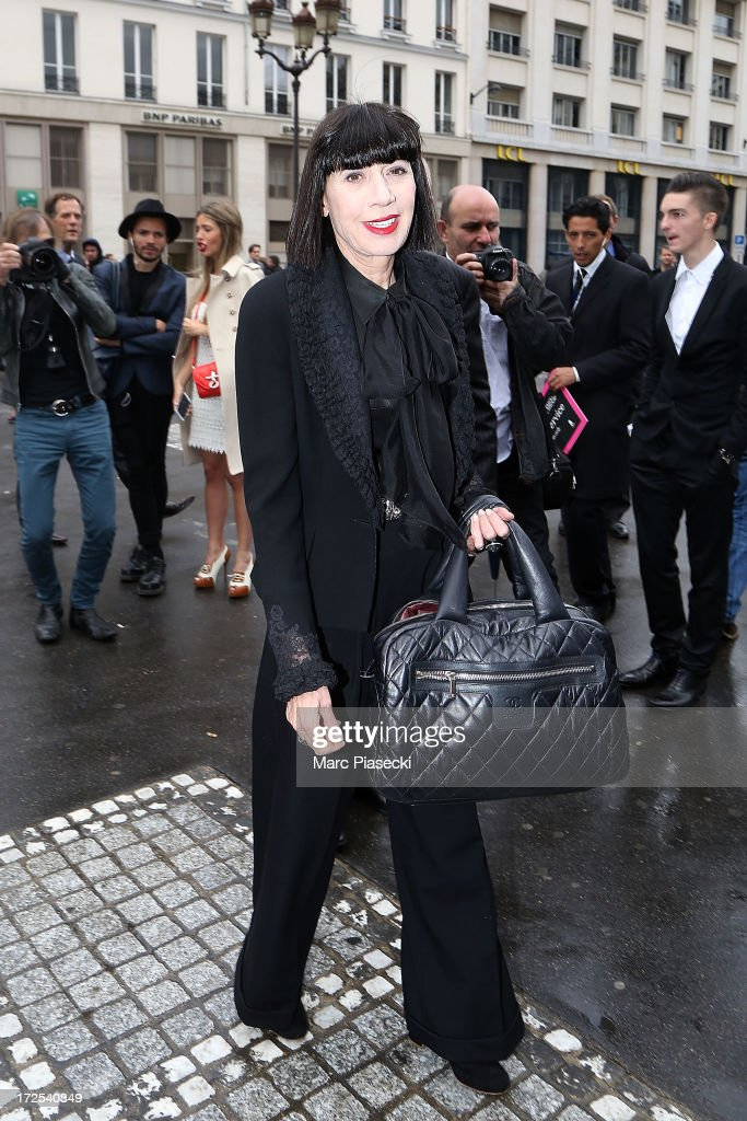 Chantal Thomass attends the Elie Saab show as part of Paris Fashion Week Haute-Couture Fall/Winter 2013-2014 at Palais Brongniart on July 3, 2013 in Paris, France.