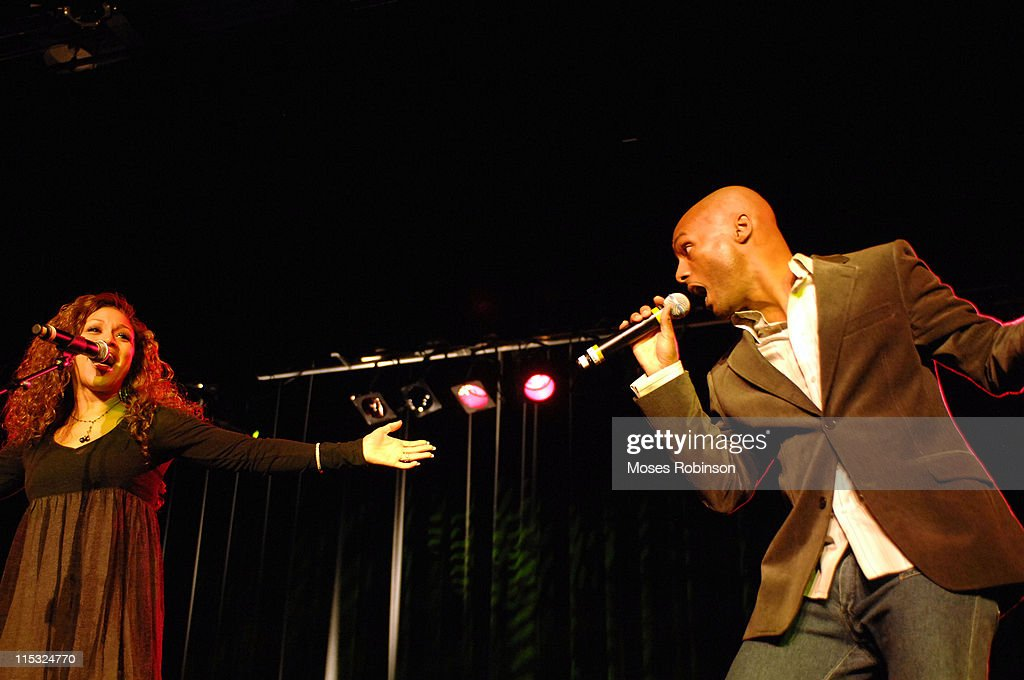 Chante Moore and Kenny Lattimore during Kirk Franklin and the Children's Defense Fund Presents 'Imagine Me AllStar Celebrity Concert' at Gaylord...