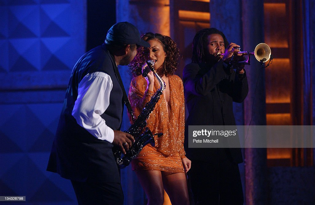 Chante Moore Roy Hargrove and Gerald Albright performing during the BET Walk of Fame show Honoring Stevie Wonder