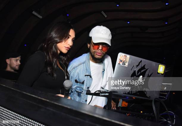 Chantel Jeffries and DJ Daniel D'artiste attend Maybelline New York Celebrates First Ever Cobranded Product Collection With Beauty Influencer Shayla...