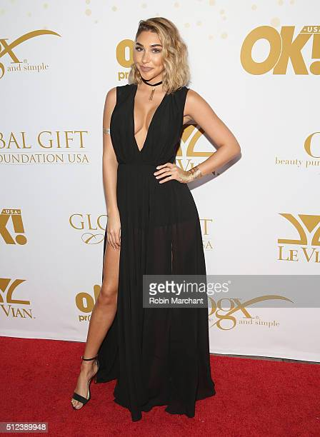 Chantel Jeffries attends OK Magazine's PreOscar Party In Support Of Global Gift Foundation at Beso on February 25 2016 in Hollywood California