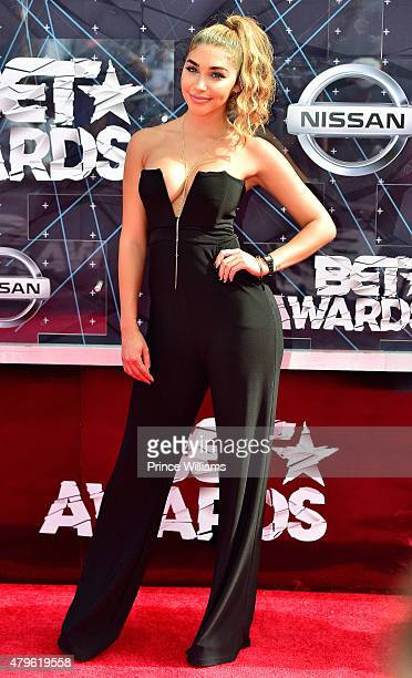 Chantel Jeffries attends the 2015 BET awards on June 28 2015 in Los Angeles California