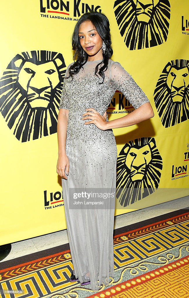 Chantel Riley attends the 'The Lion King' On Broadway 15th Anniversary Celebration at the Minskoff Theatre on November 18, 2012 in New York City.