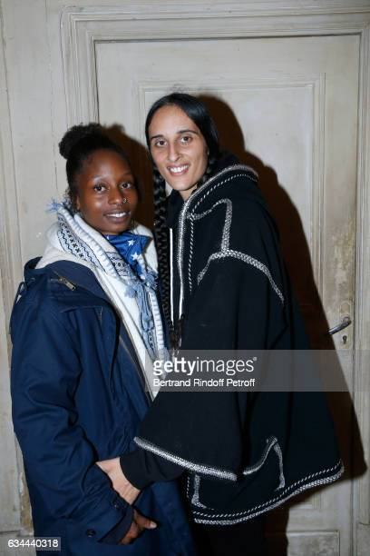 Chantelle Broomes and Roxane Depardieu attend Gerard Depardieu sings Barbara accompanied on the piano of Barbara by Gerard Daguere who was his...