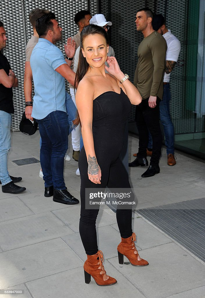 Chantelle Connelly from the Geordie Shore Cast arrives to celebrate their fifth birthday at MTV London on May 24, 2016 in London, England.