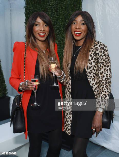 Chantelle DwomohPiper and Danielle DwomohPiper attend as Lord Taylor and Bobbi Brown celebrate the launch of the justBOBBI concept shop on April 17...