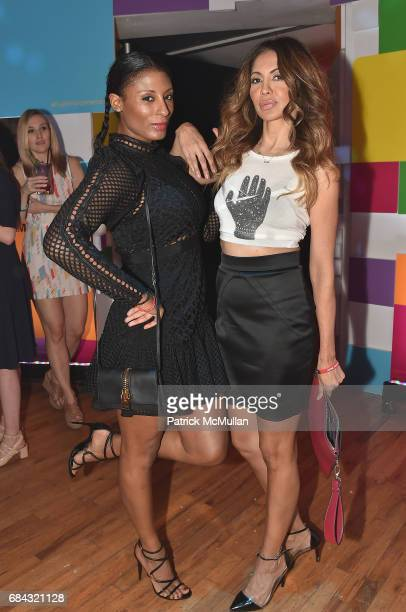 Chantelle Fraser and Tabasum Mir attend the Fujifilm Square Wonderland at Bathhouse Studios on May 17 2017 in New York City