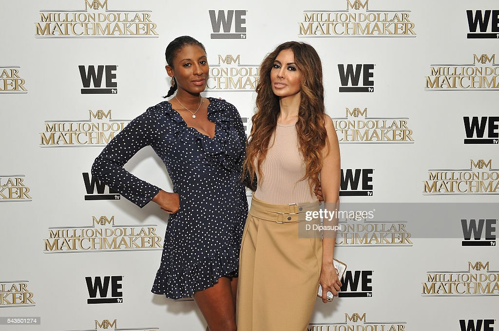 Chantelle Fraser (L) attends the Million Dollar Matchmaker premiere at the Crosby Street Hotel on June 28, 2016 in New York City.