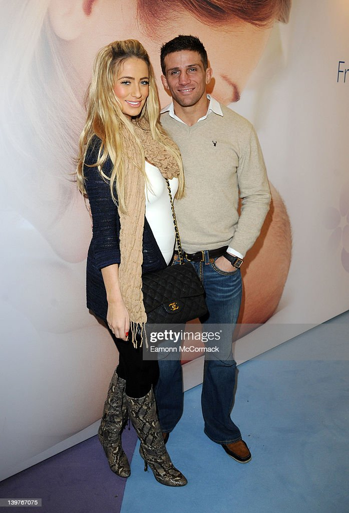 Chantelle Houghton and Alex Reid attends the press day of 'The Baby Show' at ExCel on February 25 2012 in London England